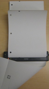3 hole punched Fan Fold Direct Thermal Paper